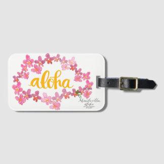 Etiqueta De Bagagem Aloha Tag corajoso do saco dos leus da orquídea -