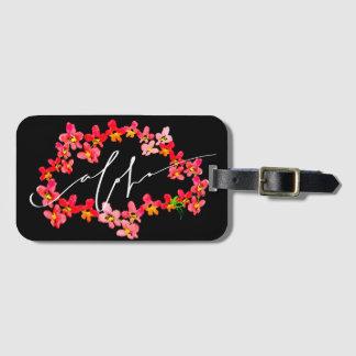 Etiqueta De Bagagem Aloha Tag da bagagem dos leus da orquídea
