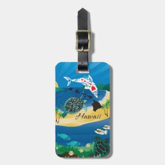Etiqueta De Bagagem Aloha tartarugas da baía de Hanauma