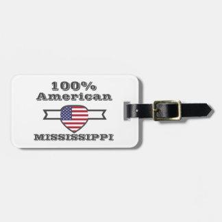 Etiqueta De Bagagem Americano de 100%, Mississippi