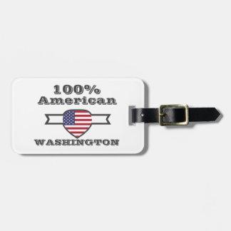 Etiqueta De Bagagem Americano de 100%, Washington