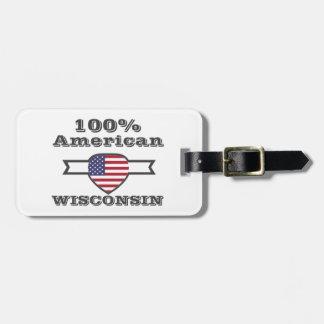 Etiqueta De Bagagem Americano de 100%, Wisconsin