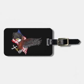 Etiqueta De Bagagem Americano Eagle com cruz