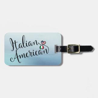 Etiqueta De Bagagem Americano italiano Tag entrelaçado da bagagem dos