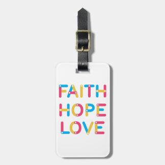 Etiqueta De Bagagem amor 2 da esperança da fé