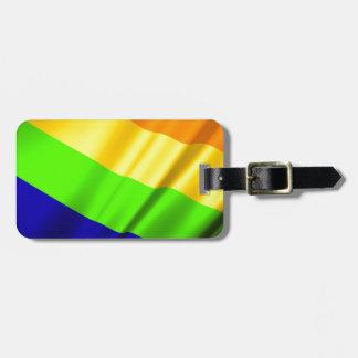 Etiqueta De Bagagem Amor alegre da lésbica do arco-íris do orgulho do