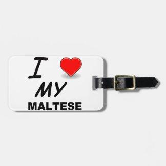 Etiqueta De Bagagem amor maltês