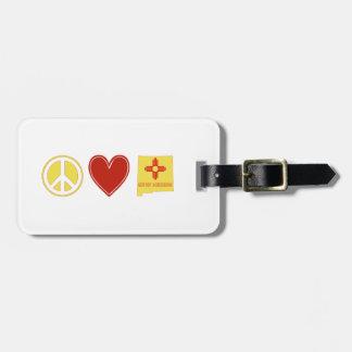 Etiqueta De Bagagem Amor New mexico da paz
