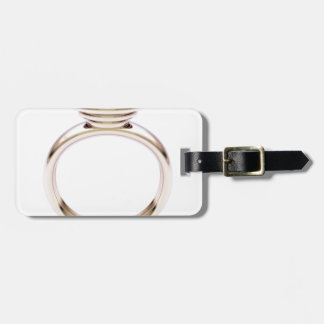 Etiqueta De Bagagem Anel de ouro cor-de-rosa