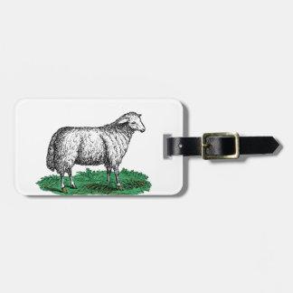 Etiqueta De Bagagem Animais de fazenda da ovelha dos carneiros do