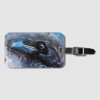 Etiqueta De Bagagem #animals do #bird do #crow da arte do corvo