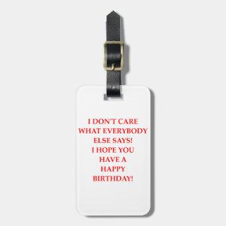 Etiqueta De Bagagem aniversário