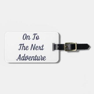 Etiqueta De Bagagem Ao Tag seguinte da bagagem da aventura