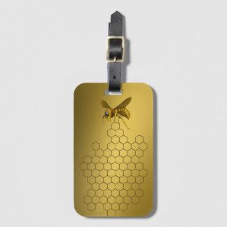 Etiqueta De Bagagem Apiarist do apicultor do vendedor do mel da abelha