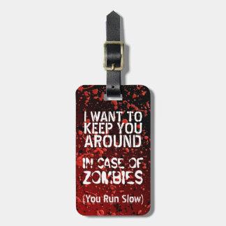 Etiqueta De Bagagem Apocalipse engraçado dos zombis   você funciona