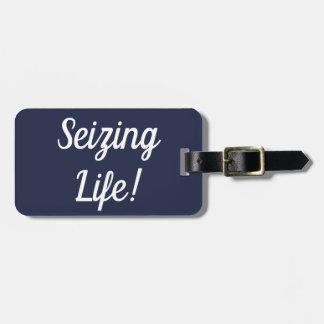 Etiqueta De Bagagem Apreendendo o Tag da bagagem da vida