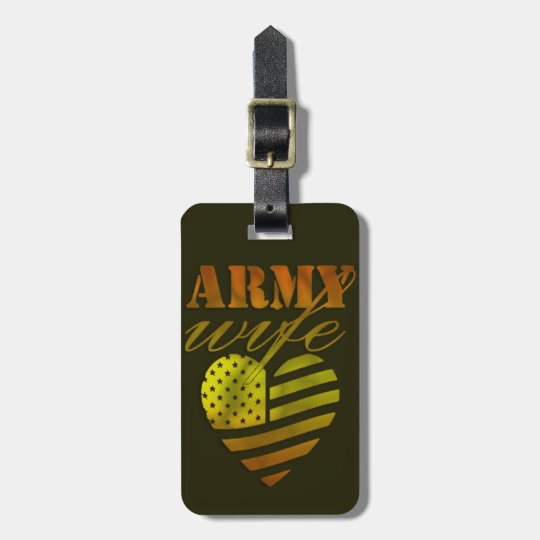 """Etiqueta de bagagem """"ARMY Wife"""""""