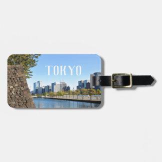 Etiqueta De Bagagem Arranha-céus em Tokyo, Japão