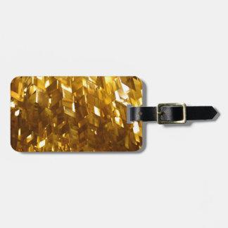 Etiqueta De Bagagem Arte abstracta do teto do ouro