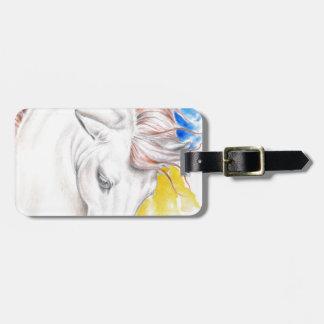 Etiqueta De Bagagem Arte da aguarela do cavalo
