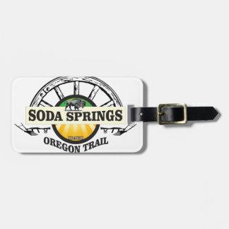 Etiqueta De Bagagem arte da fuga de Soda Springs oregon