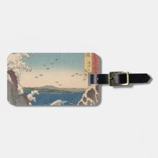 Etiqueta De Bagagem Arte de Hiroshige do japonês do redemoinho de