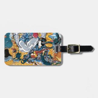 Etiqueta De Bagagem Arte de Ukiyoe do japonês (utagawa do kunisada)
