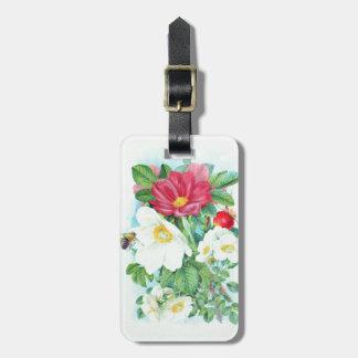 Etiqueta De Bagagem arte do rosa de chá