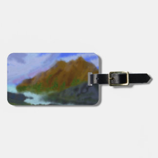 Etiqueta De Bagagem Arte verde das montanhas