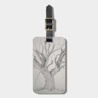 Etiqueta De Bagagem Árvore de bordo de prata