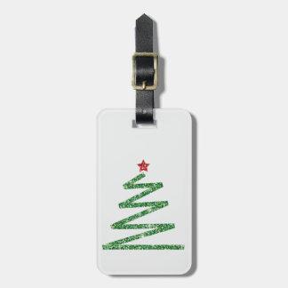 Etiqueta De Bagagem Árvore de Natal do brilho