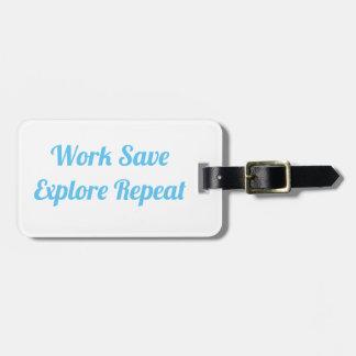 Etiqueta De Bagagem As economias do trabalho exploram o Tag da bagagem