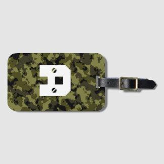 Etiqueta De Bagagem As forças armadas da camuflagem denominam