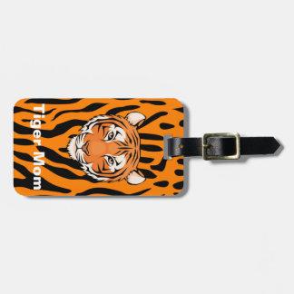 Etiqueta De Bagagem As mães do tigre mostram suas listras para trás &