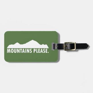 Etiqueta De Bagagem As montanhas satisfazem