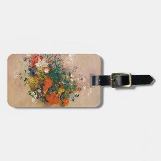 Etiqueta De Bagagem Assortion das flores no vaso