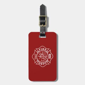 Etiqueta De Bagagem Ateie fogo ao departamento/ao Tag da bagagem cruz