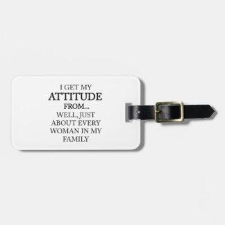 Etiqueta De Bagagem Atitude da família
