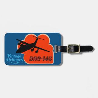 Etiqueta De Bagagem Avião de passageiros britânico clássico