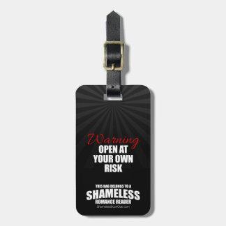 Etiqueta De Bagagem Aviso: Abra a seu próprio risco desavergonhado