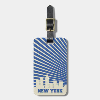 Etiqueta De Bagagem Azul da Nova Iorque