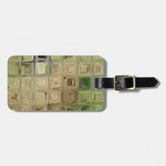 Etiqueta De Bagagem Azulejos do vidro verde