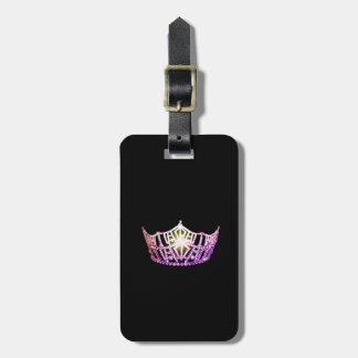 Etiqueta De Bagagem Bagagem da coroa da orquídea da senhorita América