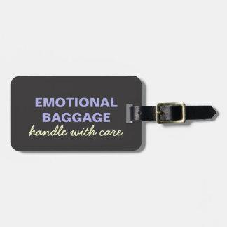 Etiqueta De Bagagem Bagagem emocional: Segure com amarelo roxo do