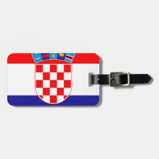 Etiqueta De Bagagem Baixo custo! Bandeira croata