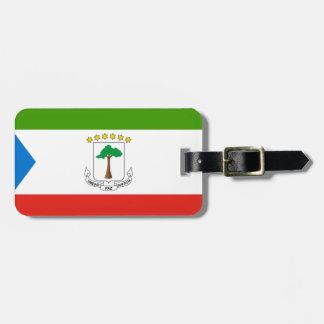 Etiqueta De Bagagem Baixo custo! Bandeira da Guiné Equatorial
