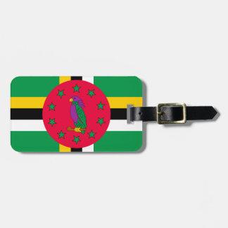 Etiqueta De Bagagem Baixo custo! Bandeira de Dominica