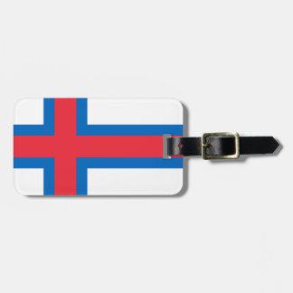 Etiqueta De Bagagem Baixo custo! Bandeira de Faroe Island