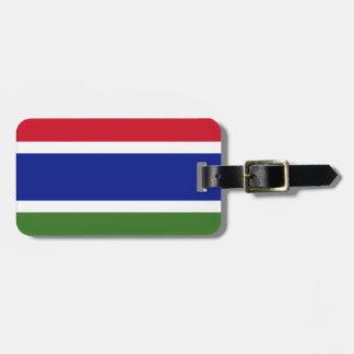 Etiqueta De Bagagem Baixo custo! Bandeira de Gambia