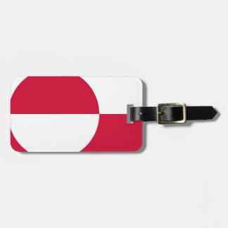 Etiqueta De Bagagem Baixo custo! Bandeira de Greenland